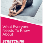 woman stretching on a mat
