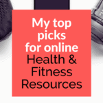 pinterest pin for my top online health & fitness resources