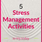 pinterest pin picture of zen garden stress management activities