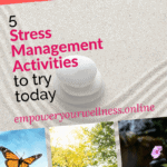 pinterest pin for stress management activities