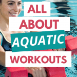 pinterest pin all about aquatic workouts