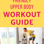 man lifting weights at home with text overlay beginner friendly upper body workout