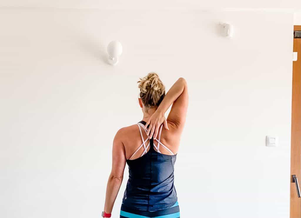 demonstration of shoulder external rotation range of motion