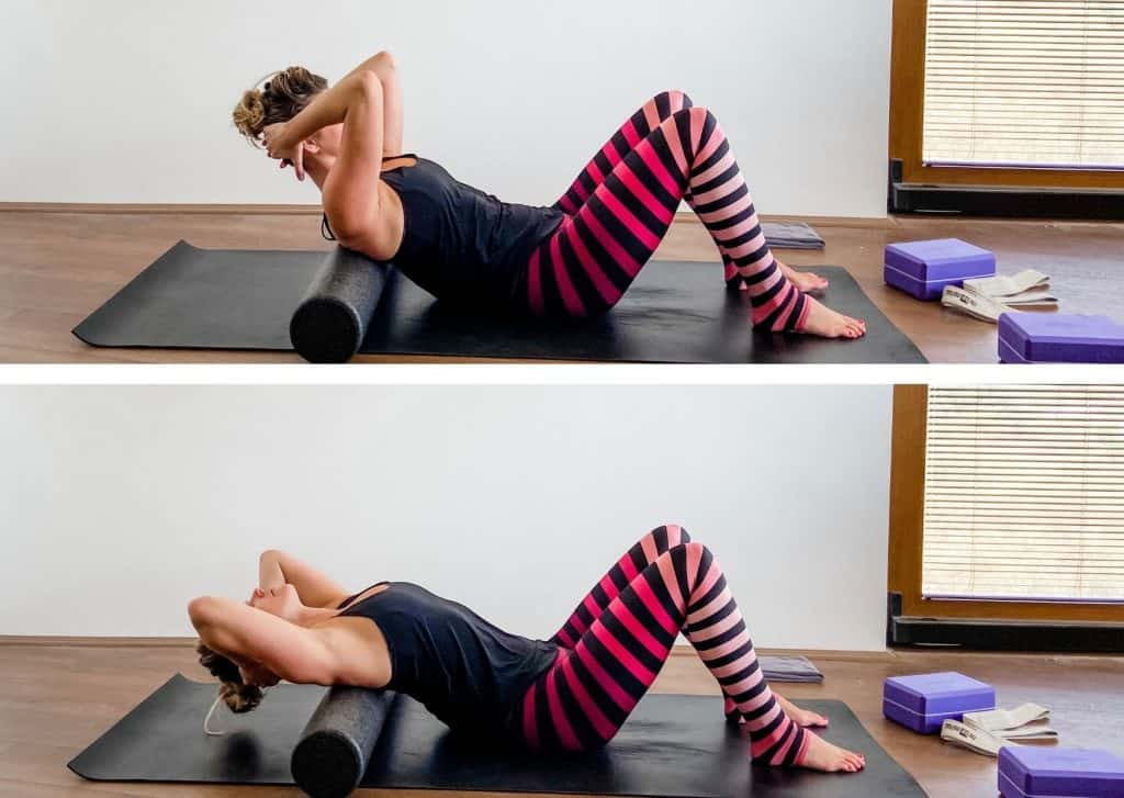 thoracic extension exercise with a foam roller