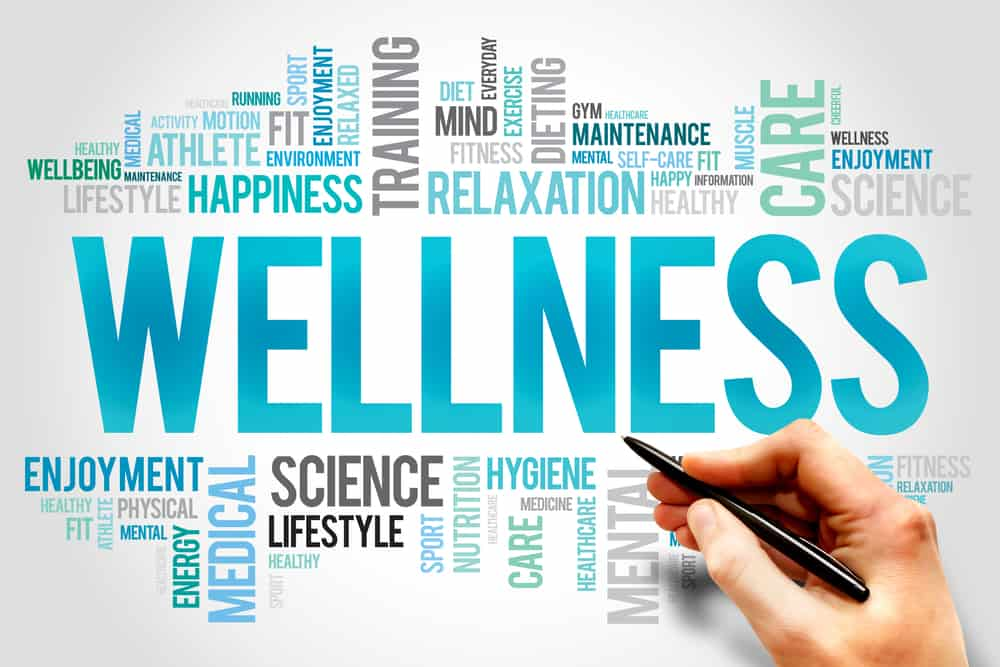 word cloud health and wellness concept