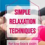 simple relaxation techniques for low back pain